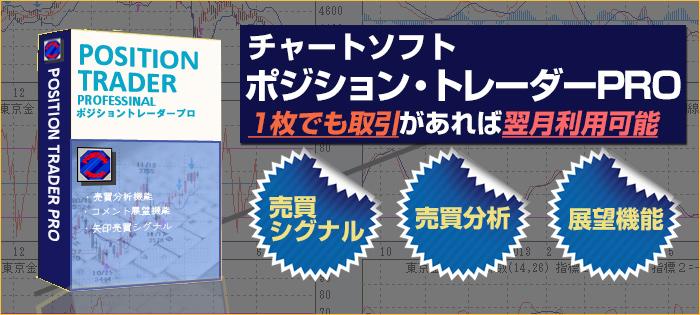 チャートソフト「ポジション・トレーダーPRO」キャンペーン