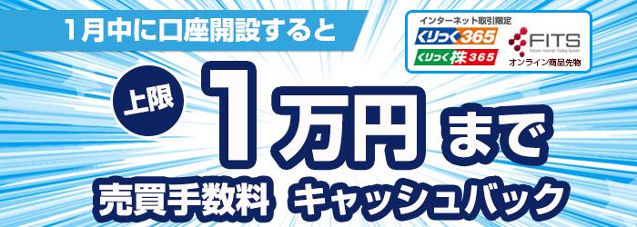 上限10000円までキャッシュバックキャンペーン